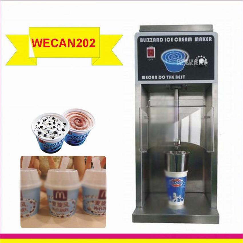 WECAN202 frozen yogurt gelato mixer 7500 rpm ice cream mixer 750 w ice cream maker  220 v/110 v ,50/60Hz Promise speed mixer fruit ice cream feeder from factory selling gelato fruit nuts mixer