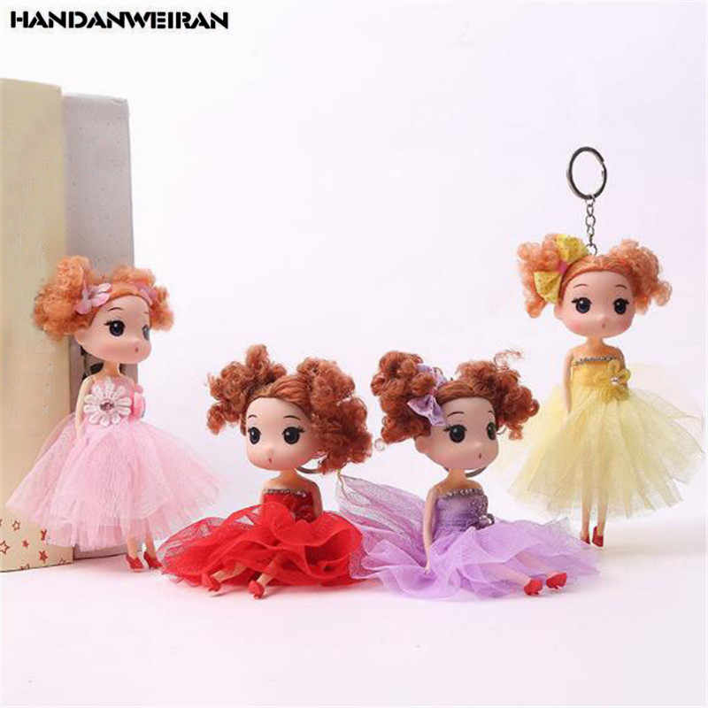 1PCS Cute Silicone Girl Doll Toy Mini Lace Little Girls Small Pendant Toys Dolls For Kids Gifts 2019 Hot NEW 18CM HANDANWEIRAN