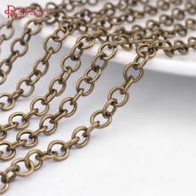 (25895)5 метров цепь шириной 4 мм античная бронза железные круглые