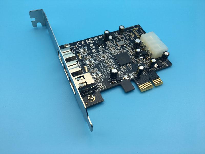 Prix pour Haute Qualité 2x 1394b + 1x 1394a Firewire Port PCI-Express Carte Vidéo Carte de Capture avec Câble