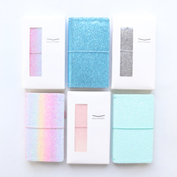 Domikee creative Sequin design leather notebooks and journals,cute school student traveler journals notebooks stationery gift