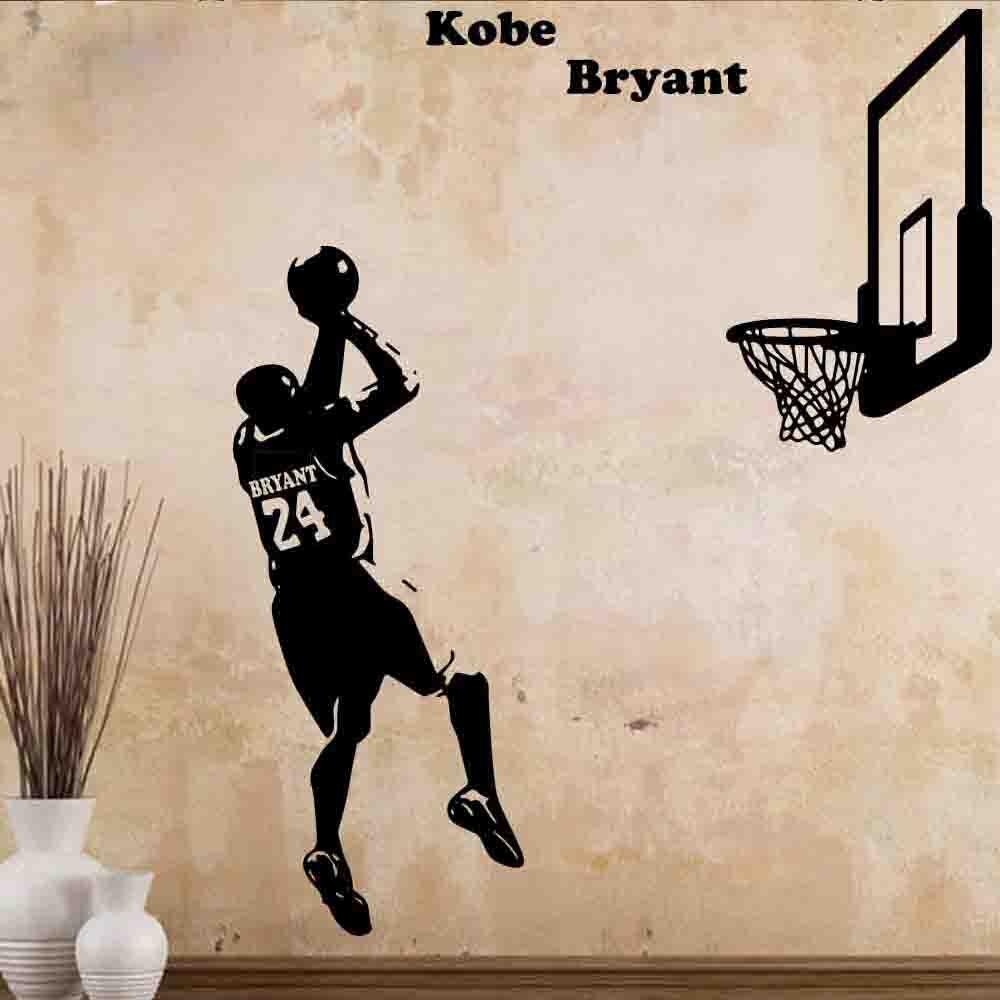 fb1da5379cdff Acheter Basket ball Kobe Bryant De Le Tournage Art Sticker Wall Art  Autocollant Murales Pour Dortoir Chambre Décoration Mur Décor Pas Cher Prix