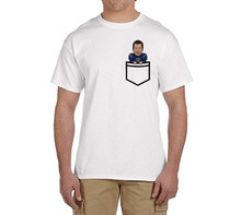 Cool TB12 G.O.A.T. Caricature Fauxket (Faux Pocket) Tee t shirts Mens Number 12 Funny T-shirts for Patriots fans 0214-1