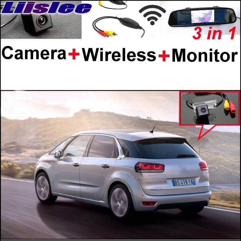 Liislee pour Peugeot 406 407 5008 1995 ~ 2017 3 in1 caméra de vue arrière spéciale + récepteur sans fil + miroir moniteur système de stationnement