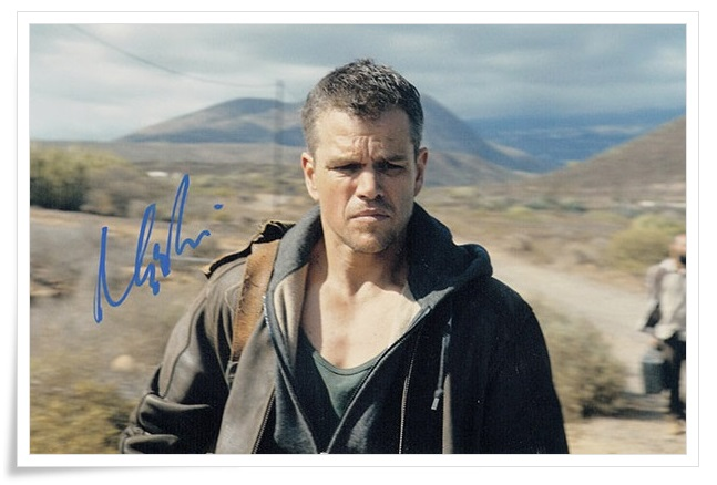 Matt Damon autographed signed photo 4*6 inches authentic freeshipping  01.2017 03 got7 got 7 jb autographed signed photo flight log arrival 6 inches new korean freeshipping 03 2017