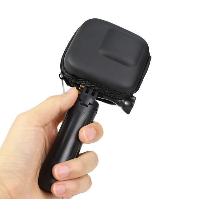 Mini EVA Fall Schutz Tasche für GoPro Hero 9 8 7 6 5 Schwarz Sliver Weiß Sport Kamera PU Lagerung box Dji Osmo Action Zubehör