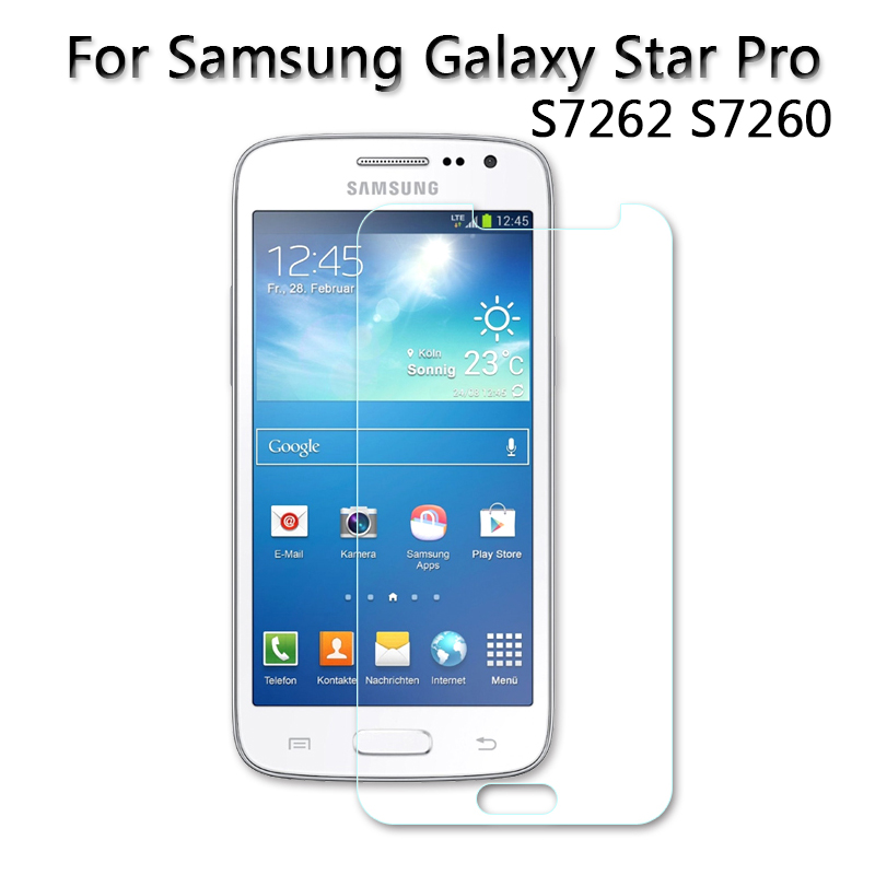 Ultra-Thin high quality screen protector Flim Tempered Glass for Samsung Galaxy Star Pro S7260 S7262 4.0 2013 Glass 9H 2.5D