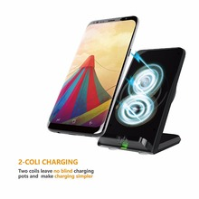 Qi Wireless Charger Adapter Quick Charge Dock Stand For iPhone 8 10 X For Samsung S6 S7 S8 Plus Note8 5 Fast Charging