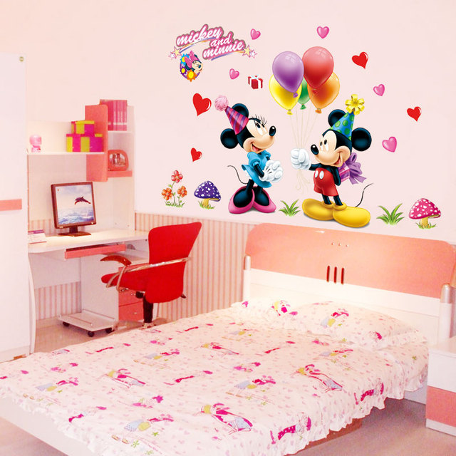Mickey Mouse And Minnie Children Boys Girls Bedroom Wall Decals - Butterfly wall decals 3daliexpresscombuy d butterfly wall decor wall sticker