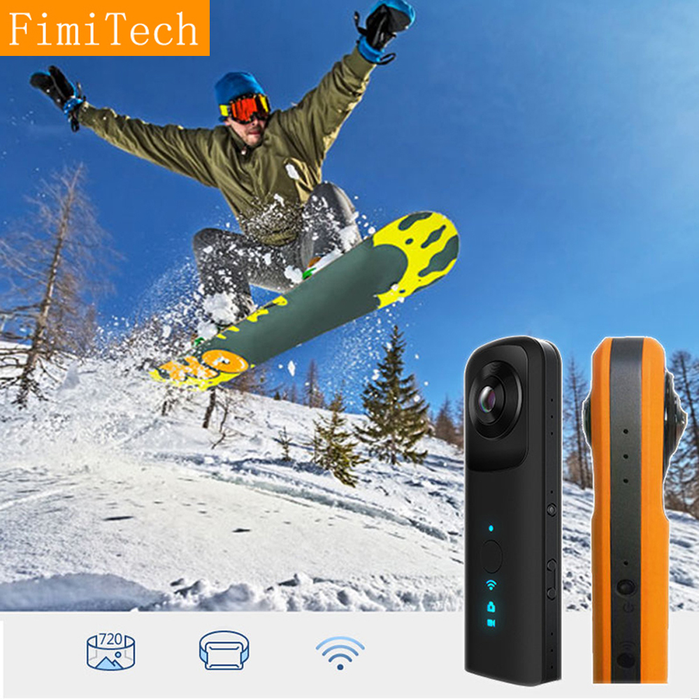 Dreality Technology Co.,Ltd Portable Mini Wifi 360 Camera VR Action Video Camera Double Fisheye Lens 720 Degree Panoramic Camcorder Full View Sports DV DVR