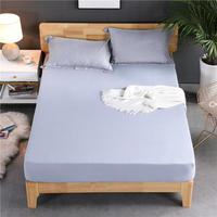 Quality Mattress Cover Twin Full Queen Size Bed Fitted Sheet 1 Piece Solid Color Bed Sheet sabanas bed sheets high 30cm
