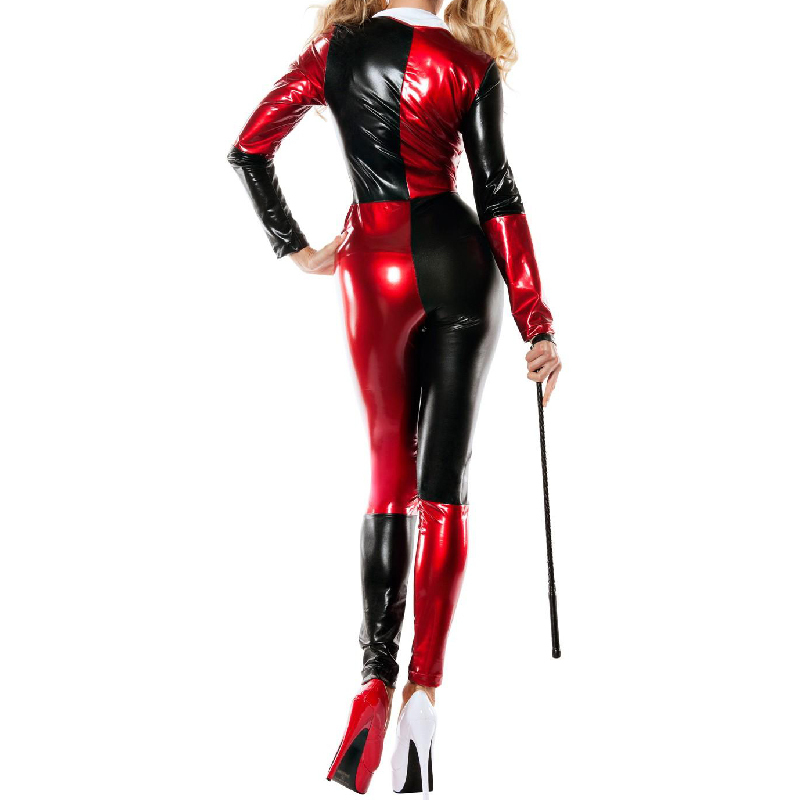 c7f08c807827f harley quinn costume women adult batman sexy cosplay bodysuit catsuit party  halloween costumes for women supergirl Clown custom-in Holidays Costumes  from ...