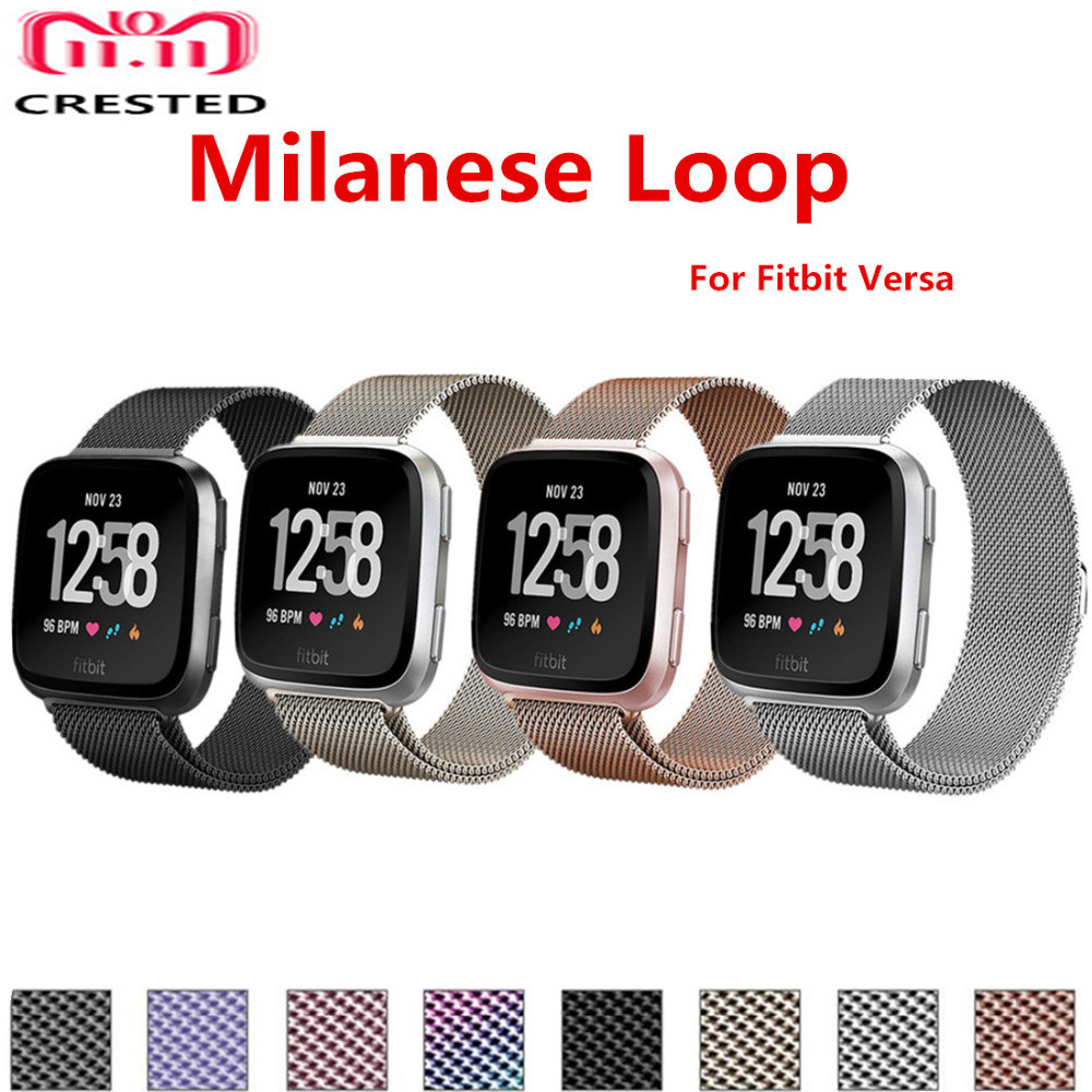 Milanese Loop Band For Fitbit Versa/Versa 2/versa Lite Strap Stainless Steel Bracelet Strap Smart Watch Accessories