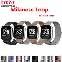 Milanese loop Band dla Fitbit Versa/Versa 2/versa Lite pasek ze stali nierdzewnej pasek do bransoletki akcesoria do inteligentnego zegarka w Paski do zegarków od Zegarki na
