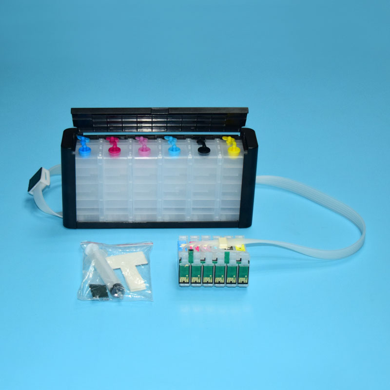6 color T0851-T0856 Continuous Ink Supply System for Epson 1390 inkjet printer ciss system