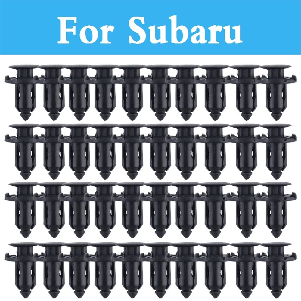 50pcs 9mm Screw Rivet Push Fit Panel Trim Clips For Subaru R1 R2 Trezia Tribeca Wrx Sti Xv Legacy Levorg Lucra Outback Pleo handbrake cover for subaru forester impreza legacy outback xv sti wrx spoiler tribeca grill brz cross sport viziv levorg exiga