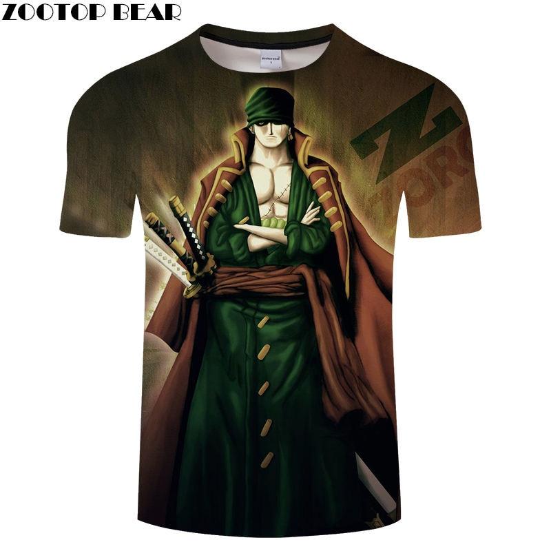 Badass Men Shirts Short Tee Casual Shirt Anime One Piece Cool Streetwear Funny Boy Brand t-shirt Breathable 3D Print ZOOTOP BEAR