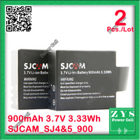 2 pcs./Lot Safety Packing 3.7V Li-ion Battery for SJCAM Series SJ4000 Wifi SJ5000 Wifi SJ5000 plus M10 Spor With plastic box x 2