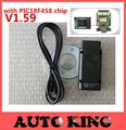2017 Melhor com PIC18F458 chip! V1.59 opcom opel interface de diagnóstico scanner can obd2 para opel opel op com can bus interface