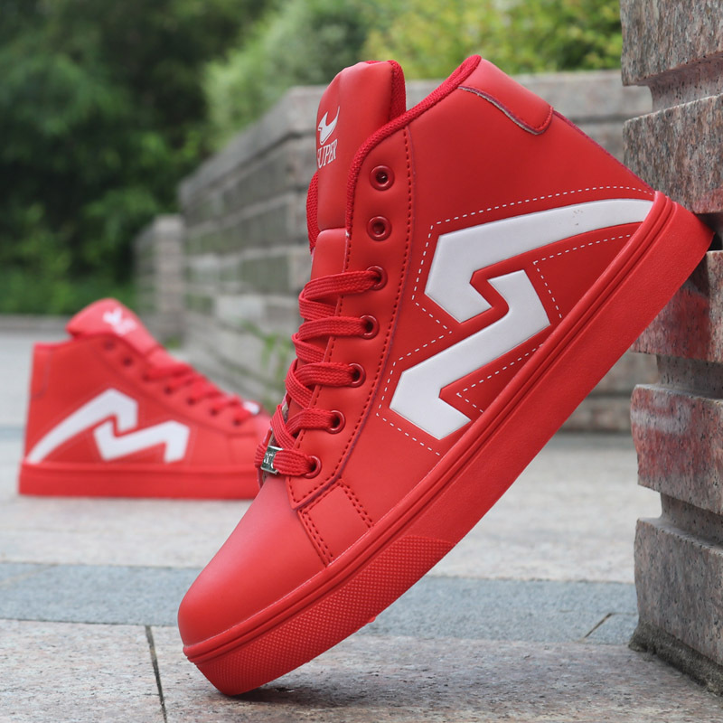 Men's Skateboarding Shoes Casual High Top Sneakers Sports Shoes Breathable Hip Hop Shoes Street Shoes Chaussure Homme