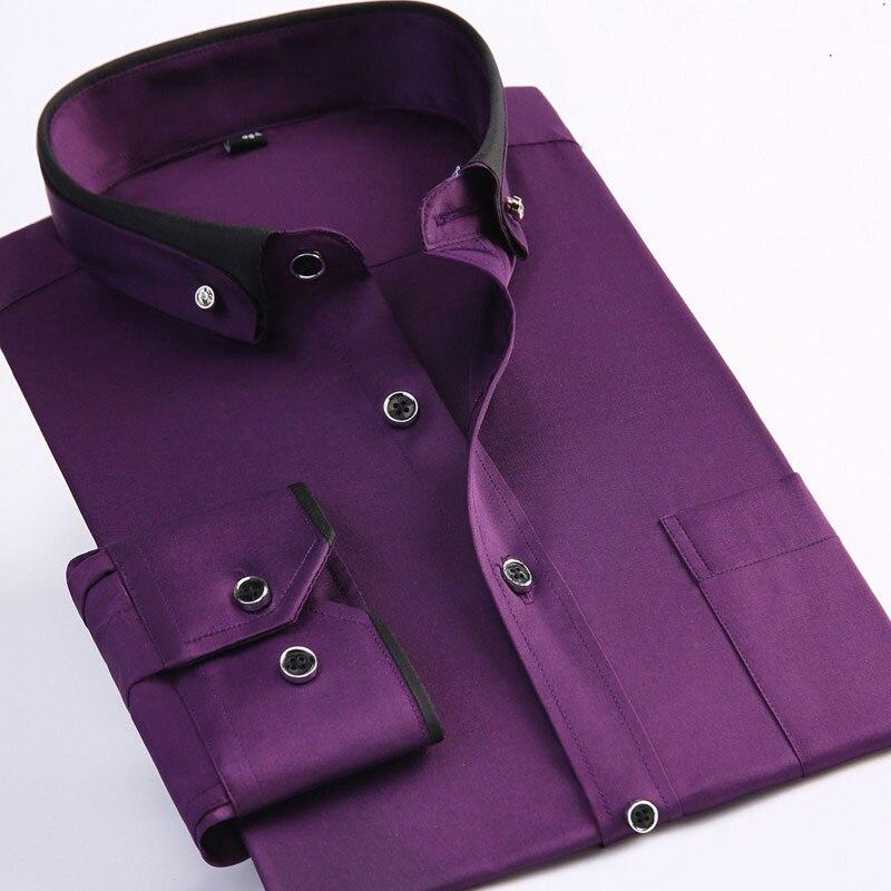 Braydendp4434 Comprar Camisas Hombre Tallas Grandes 8xl Manga Larga Solido Hombres Vestido Formal Social Camisa Masculina Online Baratos