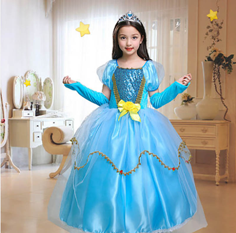 d9c64568f Princesa azul Cynthia niño disfraz de Halloween de las niñas ...