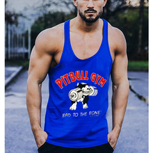 Mens Stringer Bodybuilding Tank Top Pitbull Style