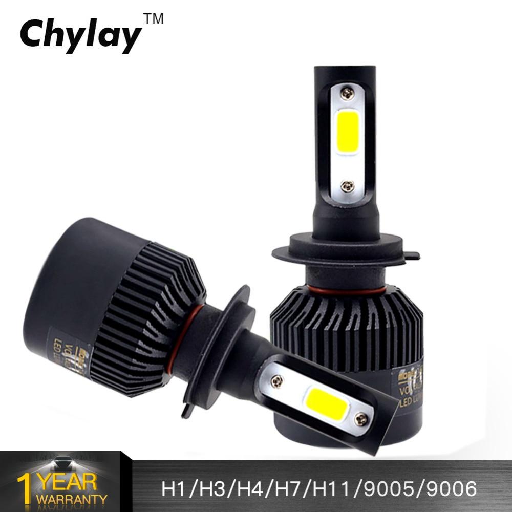 72W 8000LM ავტომობილის ნათურა H4 LED განათების ნათურა H11 H7 H1 H3 9005 9006 6500K თეთრი ავტომობილები Headlamp ნისლის შუქი