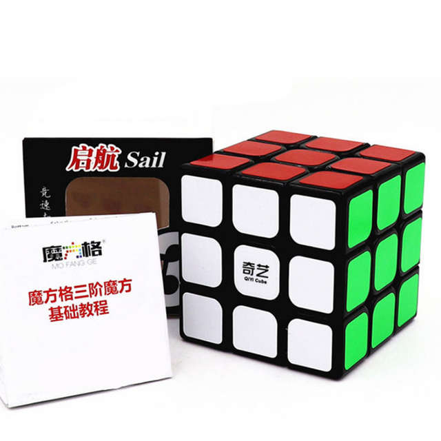 best place first rate hot sales XMD QIYI Cube 3x3 Magic Cubes Professional 3x3x3 5.6CM Sticker Speed Twist  Puzzle Toys for Children Gift Cube