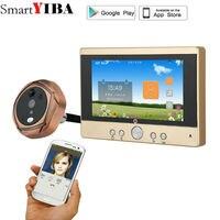 SmartYIBA 720P WiFi Wireless Digital Peephole Door Viewer 5 Front Door Peephole Camera Wifi Doorbell With