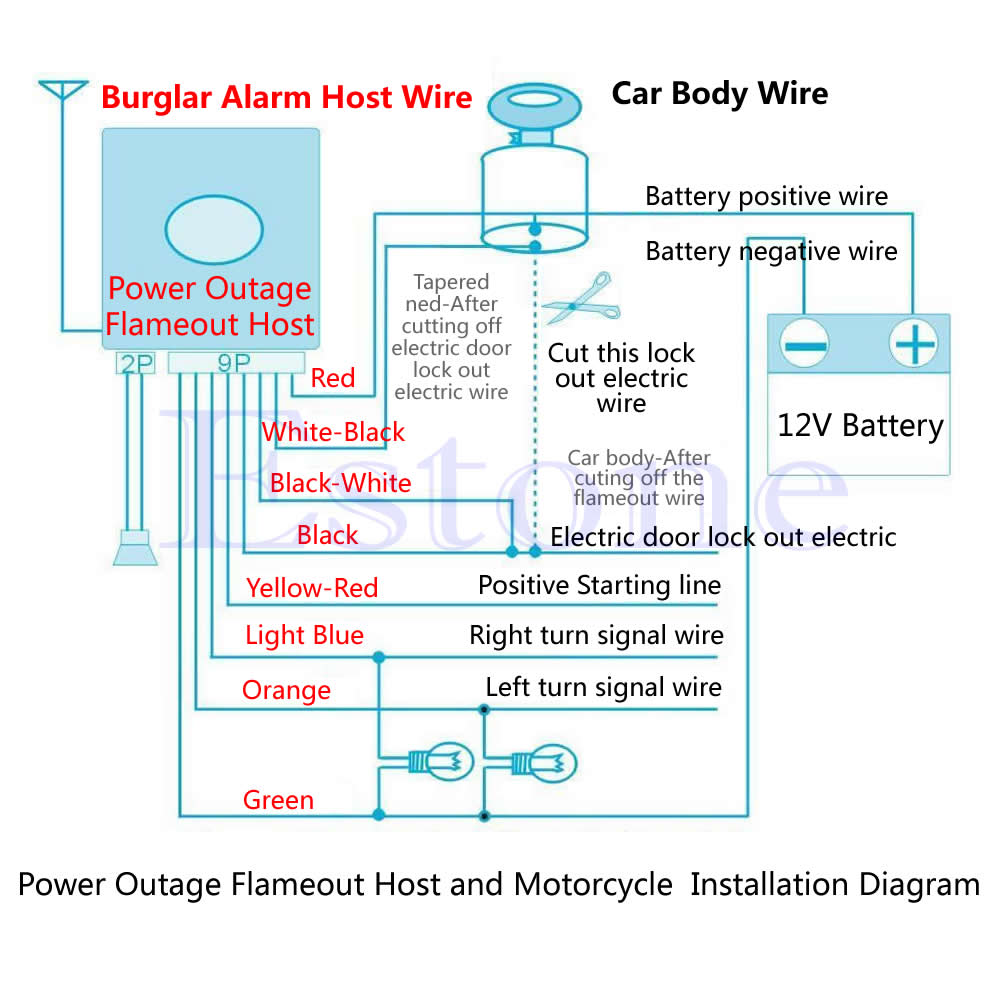 spy 5000m wiring diagram for alarm wiring library motorcycle remote starter wiring diagram qilejvs motorcycle bike security alarm system immobiliser remote rh