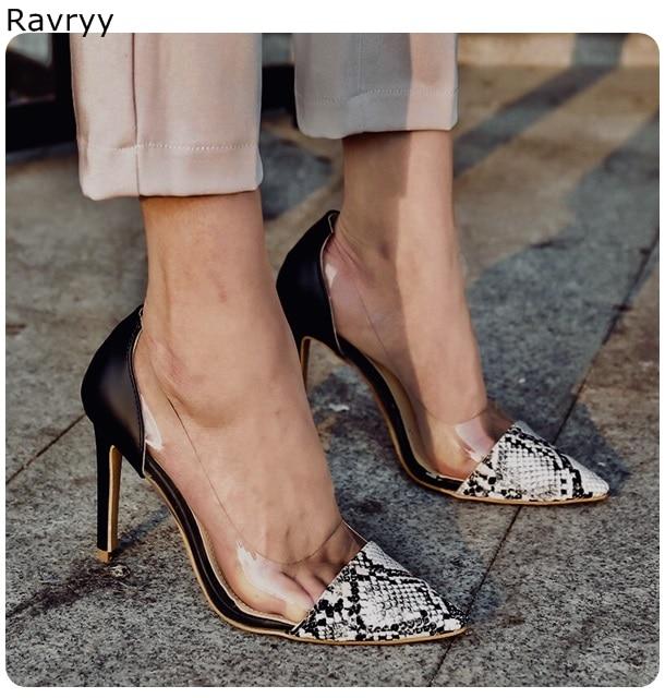 Dame As Ferse Schlangen Dünne Stiletto High Heels Weibliche Frau Schuhe Picture as Spitz Slip Pvc 2019 auf Kleid Einzelnen Picture Outfit Party UaqwpgZ