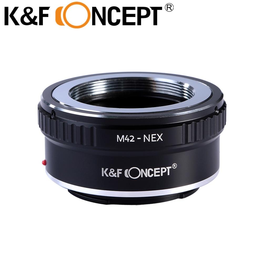 Prix pour K & f concept m42-nex adaptateur d'objectif pour m42 vis lens pour sony NEX E Mont Caméra NEX-3 NEX-5 NEX-VG10 NEX-6 NEX-7 Anneau Adaptateur
