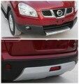 2 шт. Подходит для Nissan Qashqai ABS передний + Задний бампер протектор Защита противоскользящая пластина 2007 2008 2009 2010 2011 2012 2013 автомобильный Стайлин...