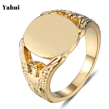 YaHui stainless steel ring Couple gold mens rings jewellery jewelry biker head