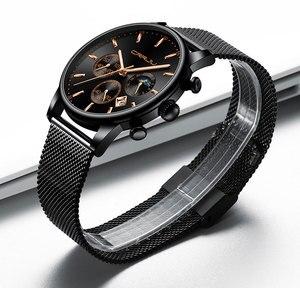 Image 2 - CRRJU relojes para hombre, marca superior, impermeable, negocios, abertura para fecha, reloj de pulsera, correa de malla, reloj de cuarzo informal