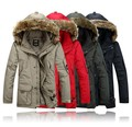 2016 estilo cazadora de invierno hombre de down jacket marca europea , además de fertilizantes a aumentar forro extraíble abrigo de plumón de pato S-6XL