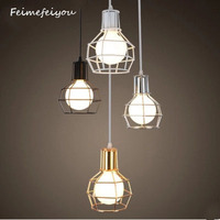 Feimefeiyou Creative Small Cage Nordic Industrial Warehouse Garment Art Retro American Restaurant Chandelier For Living Room
