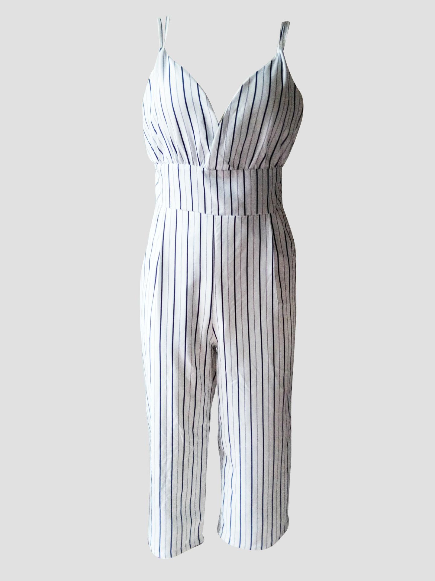 HTB1ReXtSXXXXXb6apXXq6xXFXXXU - FREE SHIPPING Women V-Neck Backless Strapless Striped Romper Playsuit Bodycon Club Jumpsuit Tops Outfits Sunsuit JKP377