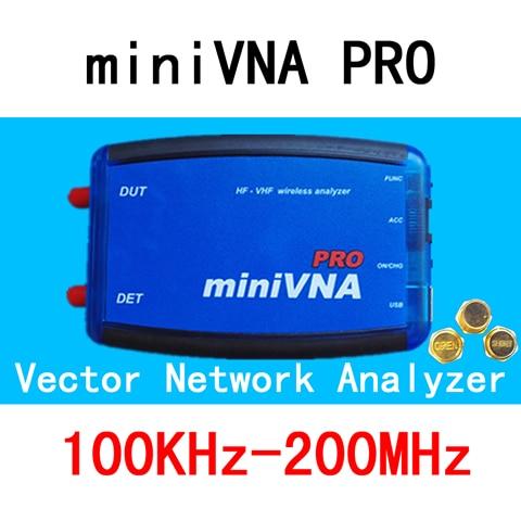 VNA 100K-200MHz Vector Network Analyzer miniVNA PRO VHF/NFC/RFID RF Antenna Analyzer VNA Signal Generator SWR/S-Parameter/Smith vector js 100 pro set