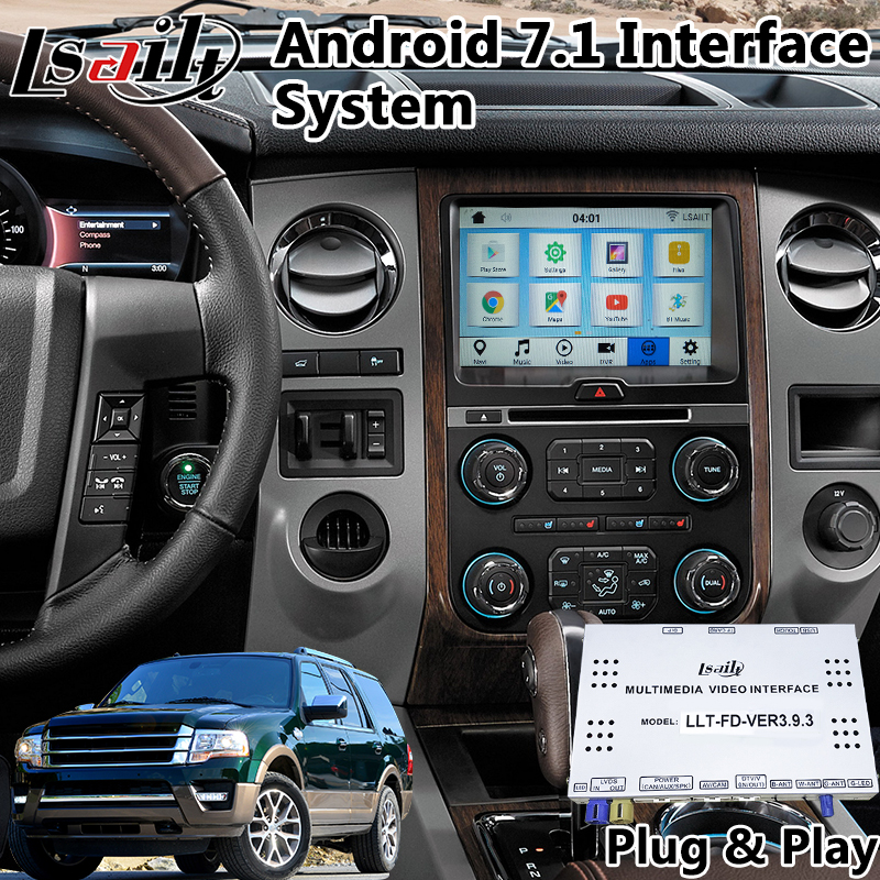 Android 7.1 Video Interface GPS Navigation for 2016 2019 Ford Expedition Sync 3 System