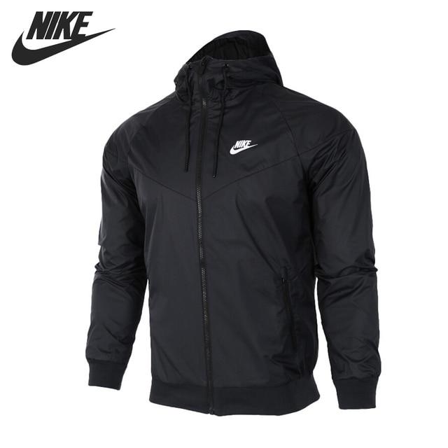 7910c5c98aa9b Original nueva llegada 2018 NIKE ropa deportiva Windrunner de los hombres  chaqueta con capucha ropa deportiva
