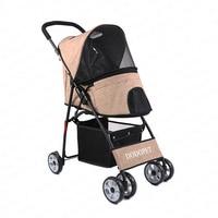 17% High Quality Pet Stroller for Small Teddy Lightweight Four Wheels Dog Stroller Dog Carrier Portable Folding Cat Stroller