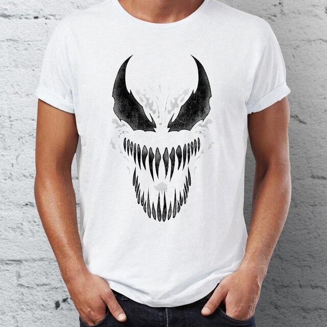 f02a2469886af0 Men's T Shirt Venom Spiderman Black and White Marvel Badass Tee-in T ...