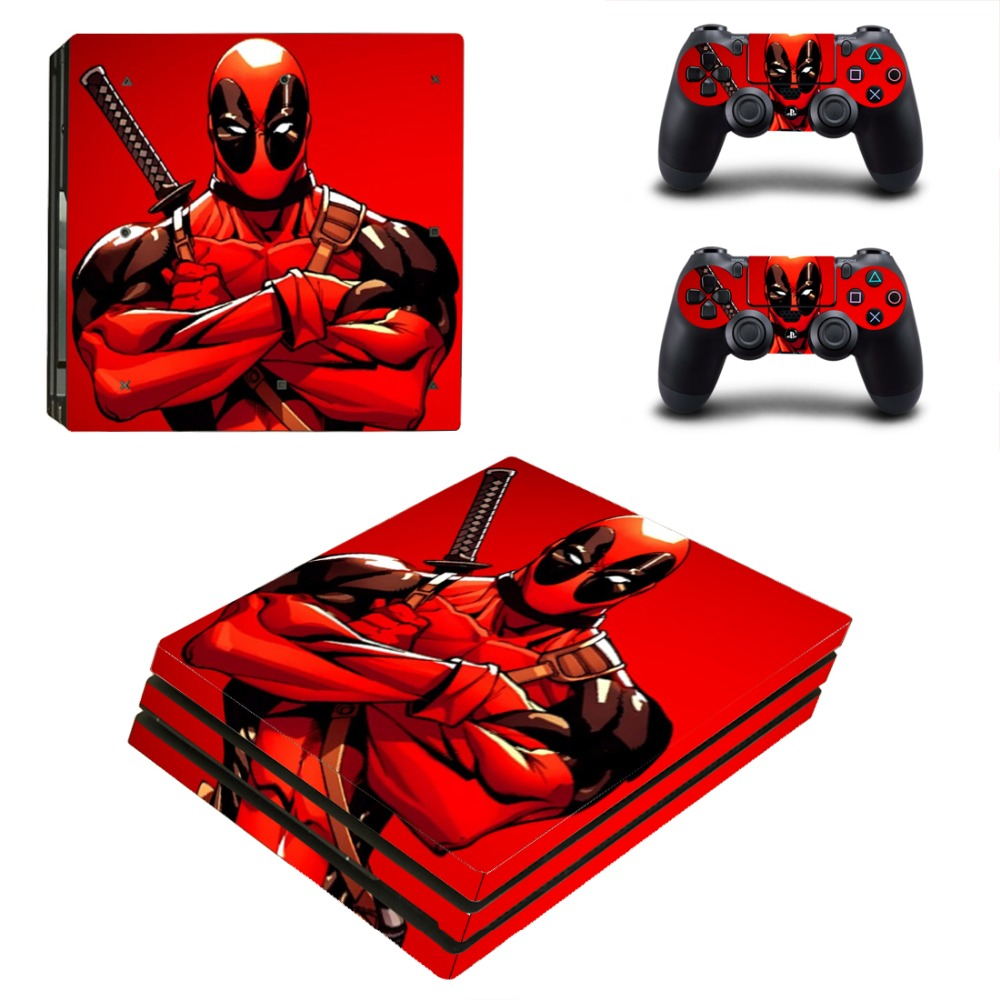 PS4 Pro Deadpool Skin Sticker Cover For Sony Playstation 4 Pro Console&Controllers