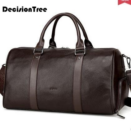 Fashion Genuine Leather Travel Bag Casual Men Handbags Cowhide Men Crossbody Bag Large Capacity Luggage  Bags