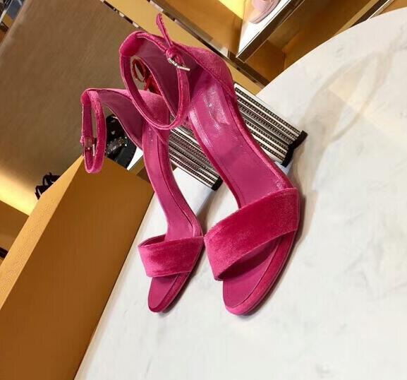 rojo Blossom Negro Tacón Sandalias Las azul Zapatillas Cuero Y Plum Moda De lavanda Mujeres Gratuito Dhl Envío OaH0qwfap