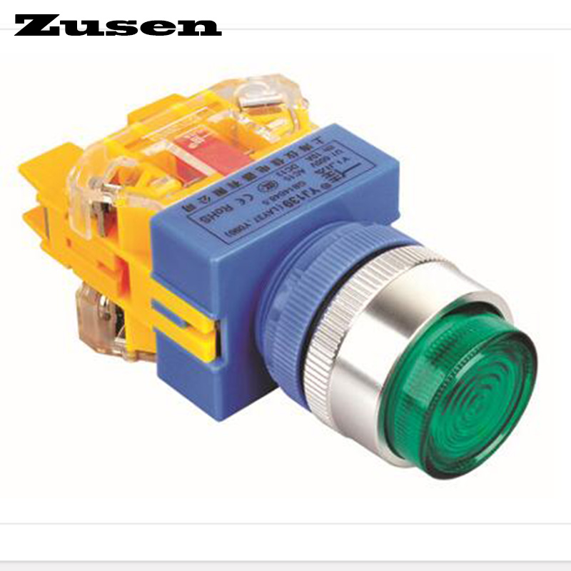 Zusen 22mm single light high head with pilot lamp single light