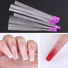 Fibernails Nail Art Fiberglass for UV Gel DIY Nails White Acrylic Extension Tips With Scraper SPA Tool G210