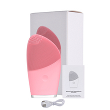 Electric Face Clean Brush Vibration Pore Pimple Clean Silicone Cleansing Brush Massager Facial Vibrate Skin Care  CleanerMassage недорого